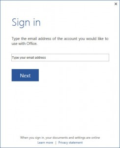SkyDrive Sign In