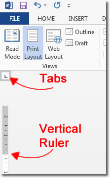 Tabs and Ruler
